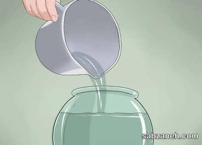 اضافه کردن آب فیلتر شده به تراریوم